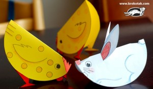 paper chicks and bunnies