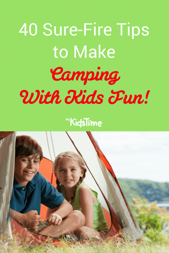 Camping with kids pinterest
