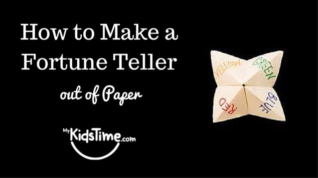 How to make a fortune teller out of paper for How to make simple things out of paper