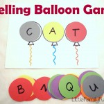 Spelling balloon game