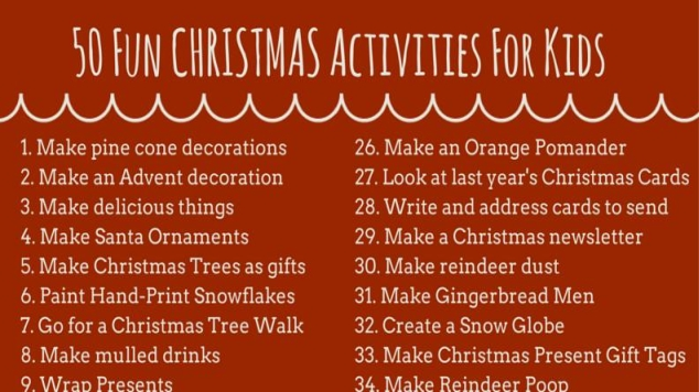 christmas activities header