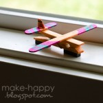 Clothes Peg Airplane Magnets