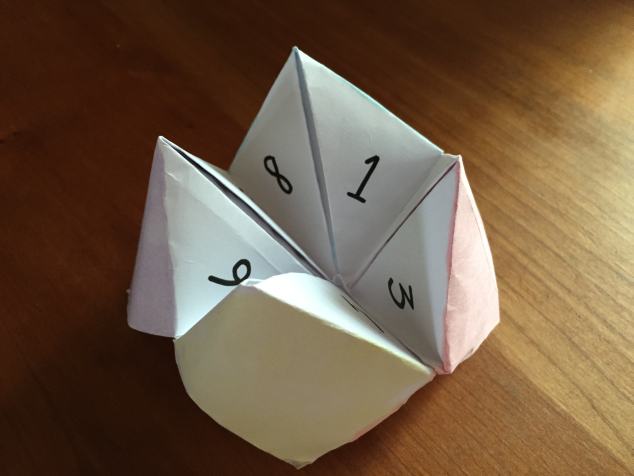 how to make a fortune teller out of paper. Black Bedroom Furniture Sets. Home Design Ideas