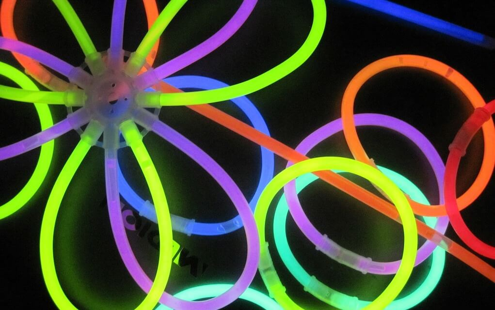 Glow sticks for camping with kids