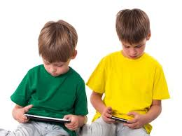 kids on tablets
