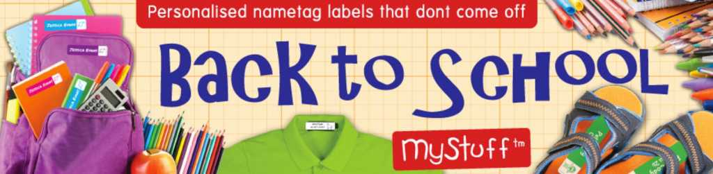 mystuff personalised labels
