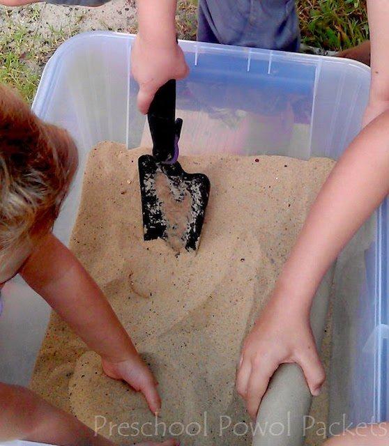 sand sensory challenge