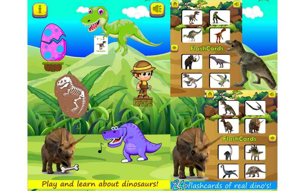 Dinosaur Games for all ages app