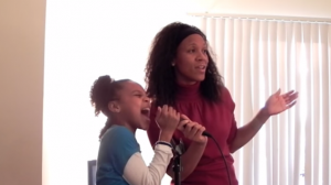 Like Mother Like Daughter jamming duo