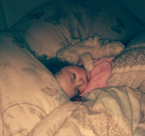 co-sleeping - my little babog