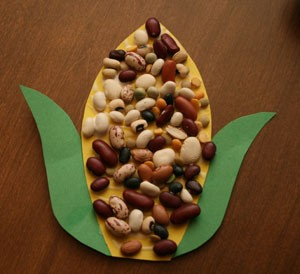 dried-bean-indian-corn-craft