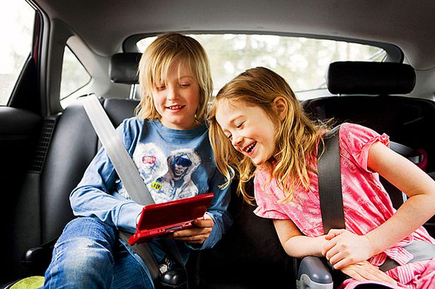 car travel with kids in car technology