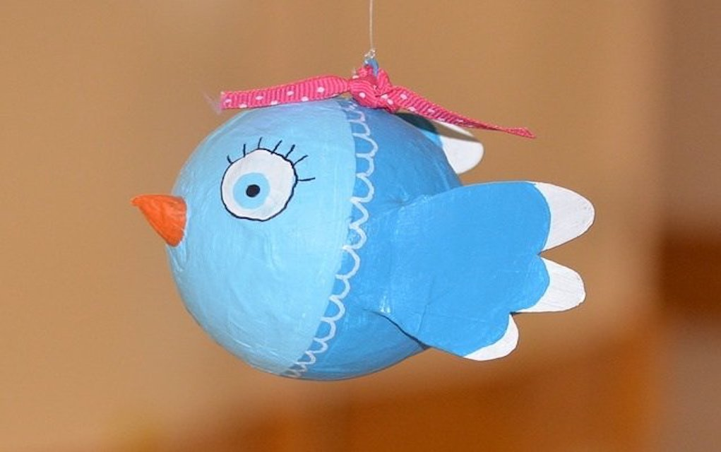 papier machier bird summer crafts for kids