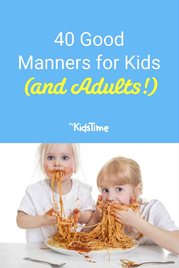 40 Good Manners for Kids - Mykidstime