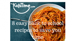8 easy back to school recipes to save