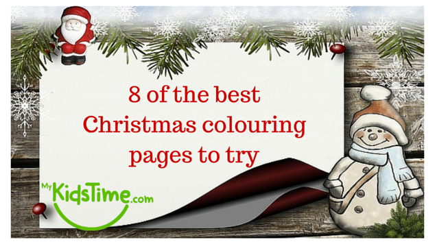 8 of the best Christmas Colouring Pages