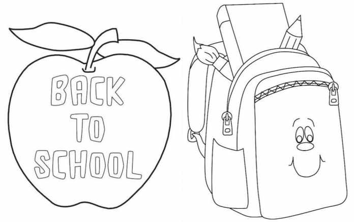 Back to school colouring pages - Mykidstime