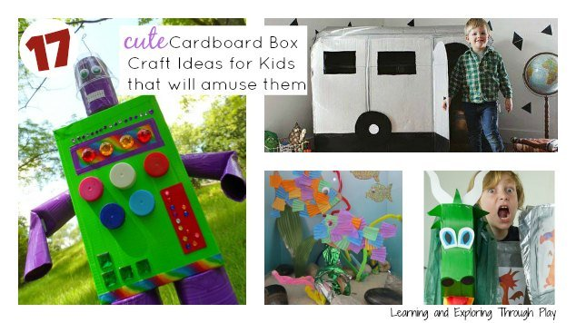 17 Cute Cardboard Box Craft Ideas For Kids That Will Amuse Them
