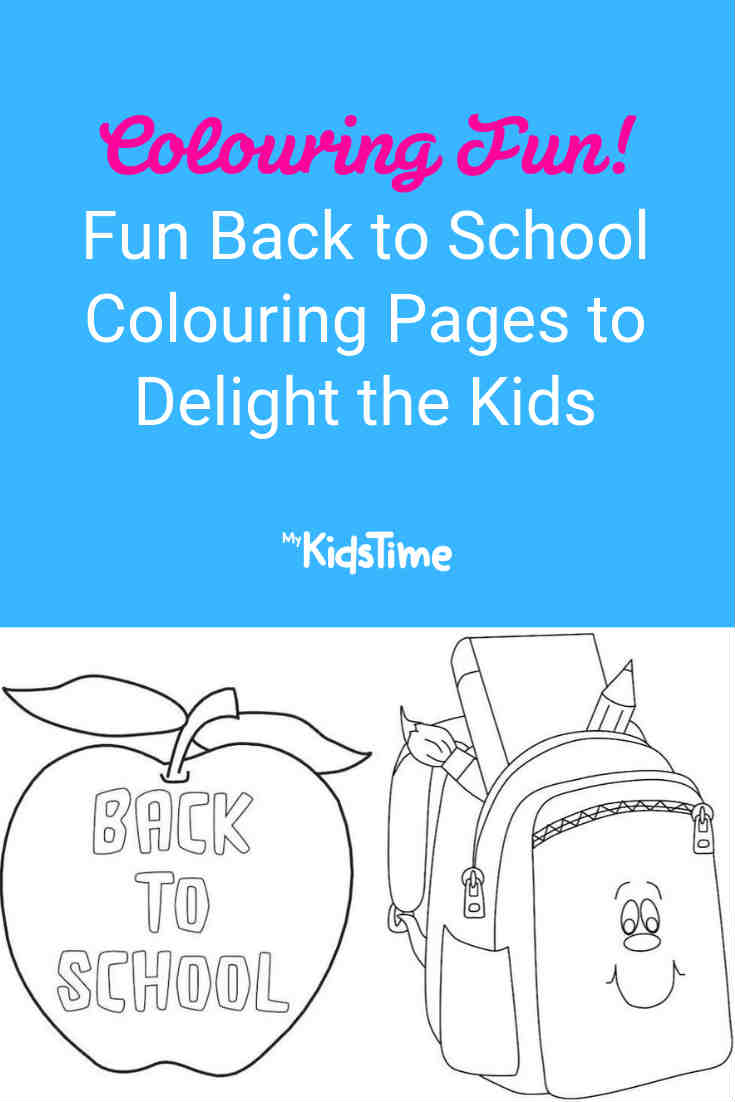 Fun Back to School Colouring Pages to Delight the Kids - Mykidstime
