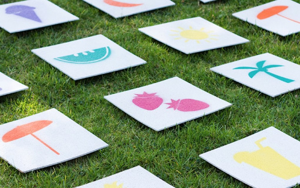 Outdoor games giant lawn matching game from Studio DIY