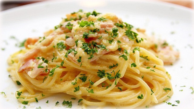 Family meal planner Quick Carbonara