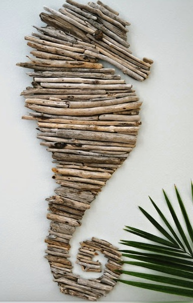 Spring Crafts for Kids Driftwood Seahorse Creativeinchiago.com