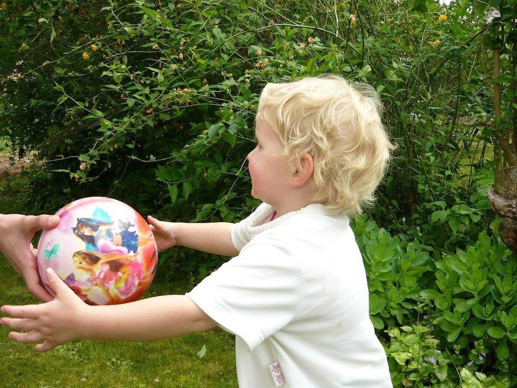 girl with ball garden fun outdoor games