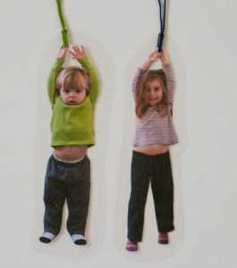 hanging kids photo bookmarks