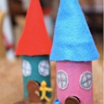 Toilet Paper Roll Fairy House Red Ted Art