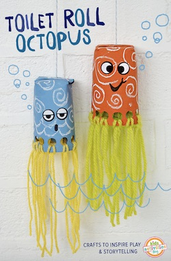 Toilet Paper Roll Octopus Kids Actitivies