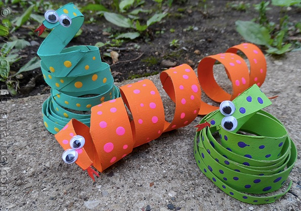 Toilet Paper Roll Snakes Crafts By Amanda