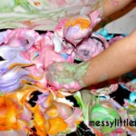 Art projects for toddlers bath paints from messy little monster
