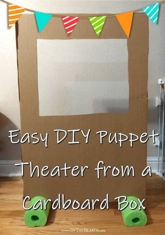 Puppet Theatre from a Cardboard Box