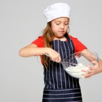 girl cooking baking kitchen