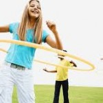 hulahoops outdoors