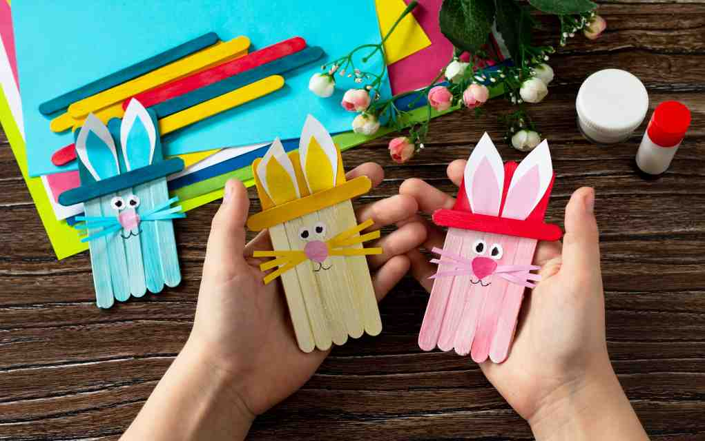 popsicle craft bunnies