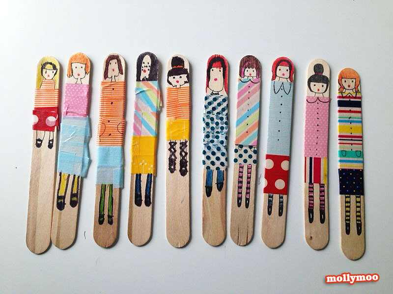 popsicle stick craft dolls