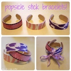 Popsicle Stick Bracelet Diary of a Mad Crafter