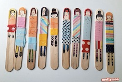 Popsicle Stick Dolls from Molly Moo Crafts