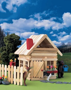 Popsicle Stick House from Martha Stewart