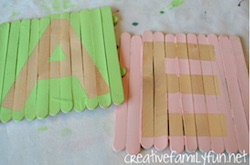 Popsicle Stick Name Plaques from Creative Family Fun