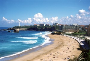 Fun things to do with kids in France Biarritz-beach-credit-Brittany-Ferries