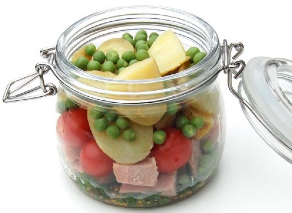 Potato salad in a jar lunch box ideas