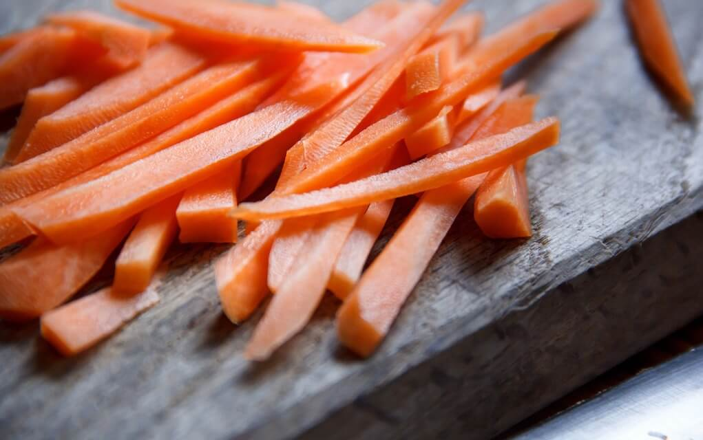 lunch box ideas chopped carrots