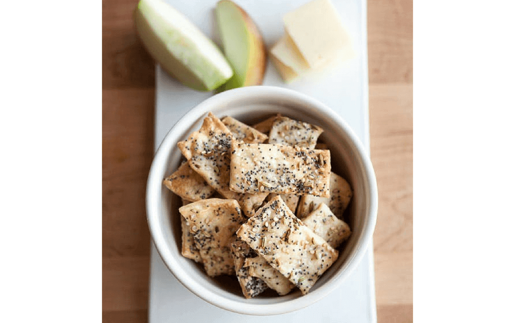 lunch box ideas homemade crackers with apple and cheese