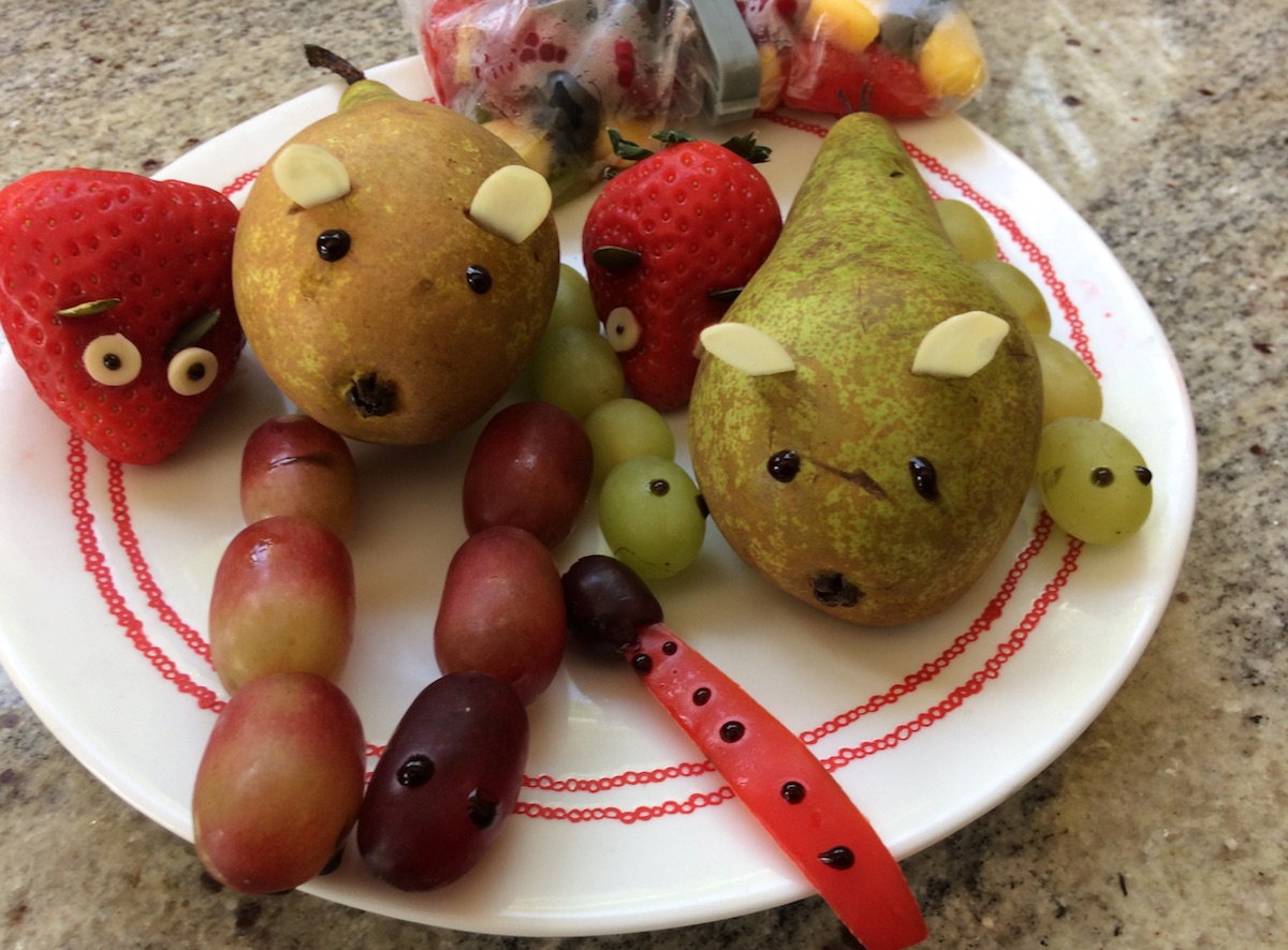 lunch box ideas fruit animals