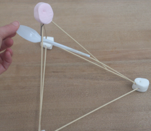 Homemade toys for kids marshmallow catapult