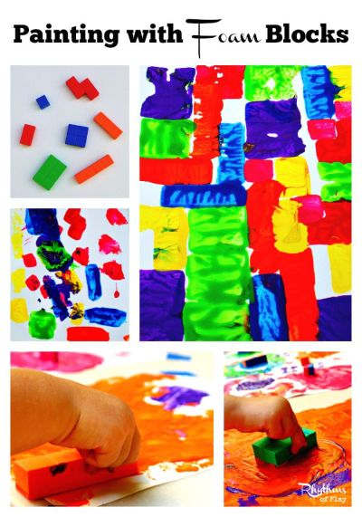 painting with blocks