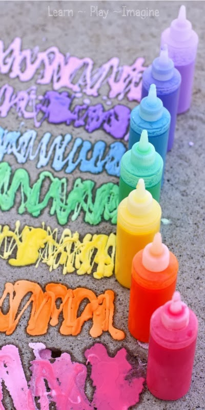 6. Rainbow Erupting Sidewalk Chalk Paint (2)