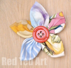 Sewing Fabric Flowers from Red Ted Art